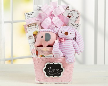 Pretty baby girl gift basket in delta bc flowers beautiful pretty baby girl gift basket negle Choice Image