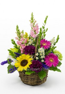 Pretty Basket fresh flowers