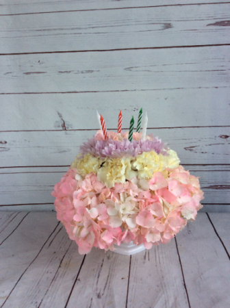 Pretty In Pick Birthday Cake