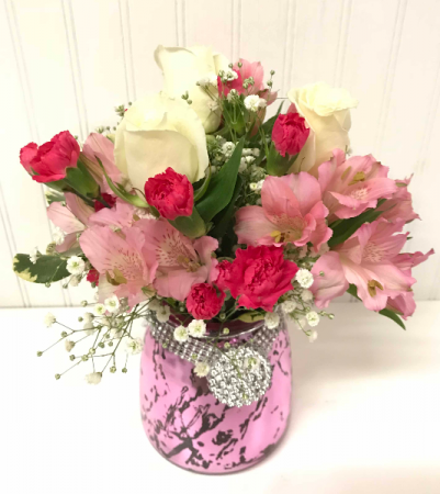 Pretty in pink in easton md robins nest floral and garden center pretty in pink mightylinksfo