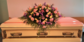 Pretty In Pink Casket Flowers