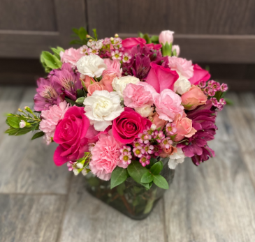 Pretty in Pink Custom Vase Arrangement