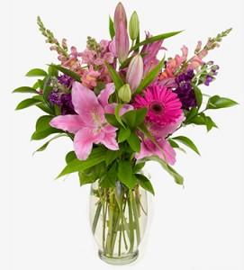 Pretty in Pink Flower Arrangement in Burbank, CA | MY BELLA FLOWER