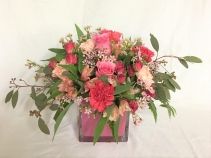 Enchanting pinks Fresh arrangement