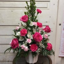 Pretty In Pink Funeral Flowers
