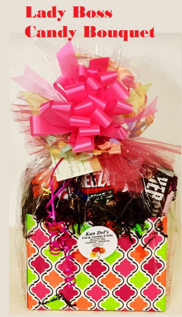 Lady Boss's Candy Bouquet Sweet and Salty Mix in Plainview, TX | Kan Del's Floral, Candles & Gifts