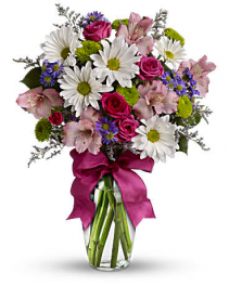 Pretty Please Pink and White Arrangement