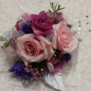 Pretty in Pink & Purple Wrist Corsage