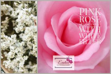 Pretty in Pink Rose arrangement