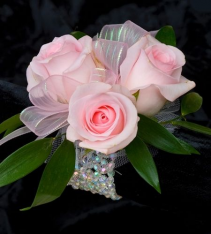 Pretty in Pink Roses Corsage