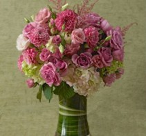 Pretty in Pink Tall Dense Arrangement