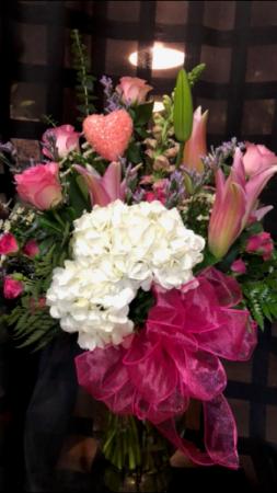 Pretty in Pink Valentine Arrangement