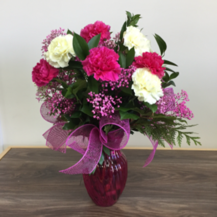 Pretty in pink vase in clarenville nl something special gift pretty in pink vase mightylinksfo