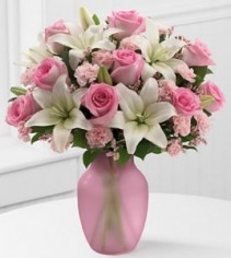 Pretty in Pink Vase Arrangement