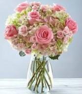 PRETTY IN PINK Vase arrangement in Longview, TX   ANN'S PETALS