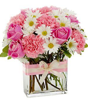 Pretty in Pink Vase Arrangement