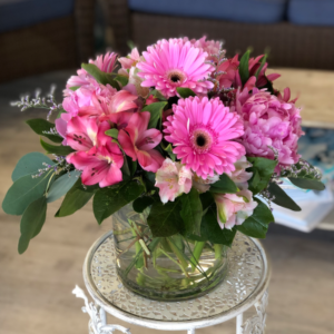 Pretty in Pink Vase Arrangement  in Mattapoisett, MA | Blossoms Flower Shop