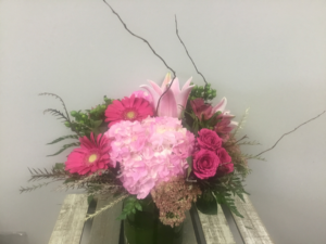 Pretty in pink Vase arrangement in Etobicoke, ON | THE POTTY PLANTER FLORIST