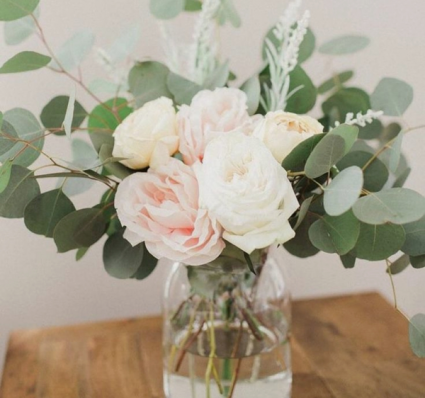 Pretty in pink Vase of pink roses