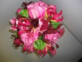 pretty in pink wedding day wedding bouquet