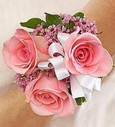 Pretty In Pink 3 Rose Wrist Corsage