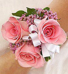 Pretty In Pink 3 Rose Wrist Corsage  in Fair Lawn, NJ | Dietch's Florist