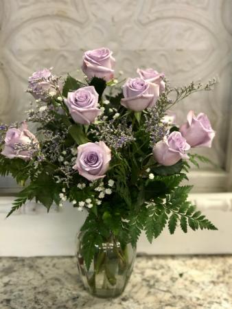 Pretty in purple 12 roses