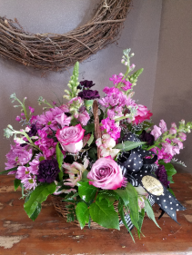 Pretty in purple Fresh arrangement