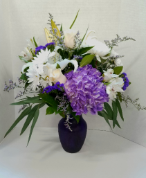 Pretty In Purple Posy Vase Vase Arrangement