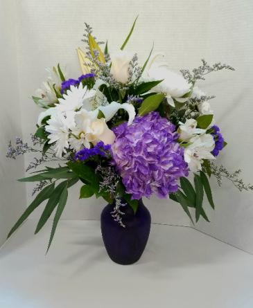 Pretty In Purple  Vase Arrangement