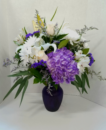 Pretty In Purple Posy Vase Vase Arrangement