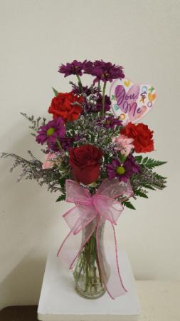Pretty Little Valentine Vase Arrangement