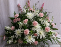 Pretty Pastels Fresh Funeral Basket