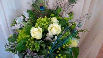 Pretty Peacock Floral Arrangement