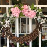 Pretty Peonies Silk Floral Wreath