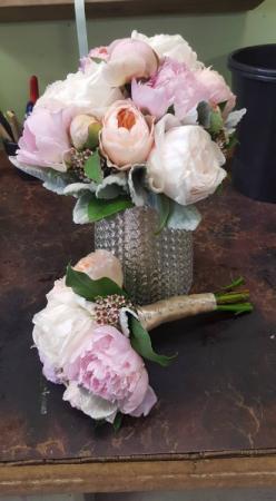 Pretty Peony Bridal Bouquet Blossom Shops Wedding