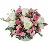 Pretty Pink and White Bowl or basket