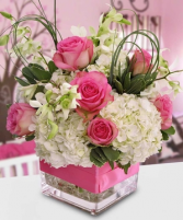 Pretty Pink  Cube Arrangement