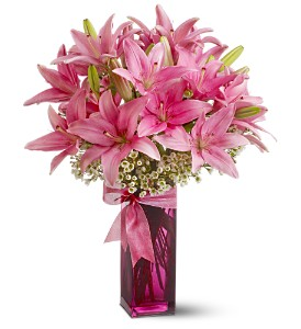 Pretty Pink Lilies (pre-order) All-Around Floral Arrangement