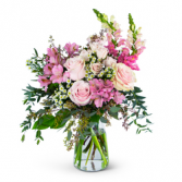 Pretty Pink Meadow Vase Arrangement