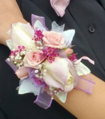 Pretty Pink Princess Prom Corsage