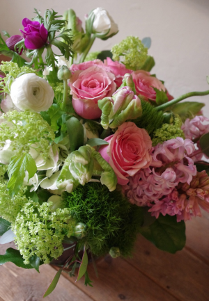Pretty Pink Springtime  Vase Arrangement in Toronto, ON | BOTANY FLORAL STUDIO