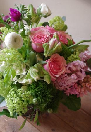 Pretty Pink Springtime  Vase Arrangement