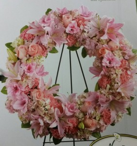 Pretty pink thoughts wreath in fulton ny devine designs pretty pink thoughts wreath mightylinksfo