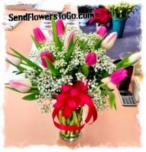 Pretty Pink Tulip  Bouquet