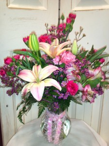 Pretty Pink Vase Arrangement