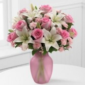 Pretty Pinks And Whites Vase Arrangement..