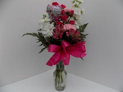 Pretty please vase arrangement in whitehall mi white lake pretty please vase arrangement mightylinksfo