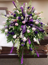 Pretty Purple Casket Spray
