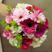 Pretty Shades of Pink & White Wedding Bouquet